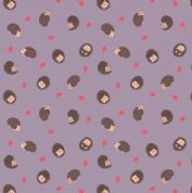 Lewis & Irene - Small Things Country Creatures - 6155 - Hedgehogs, Lilac  - ASM14.3 - Cotton Fabric